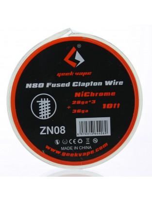 N80 Fused Clapton Wire 28GA*3 + 36GA - Geek Vape